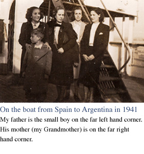 On the boat from Spain to Argentina in 1941